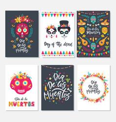 dia de los muertos mexican day dead set of vector image