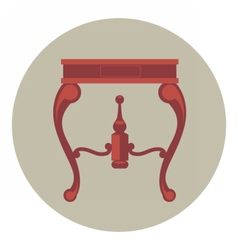 Digital red vintage table isolated vector image