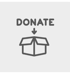 Donation box thin line icon vector image