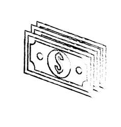 Figure bill dolar money vector