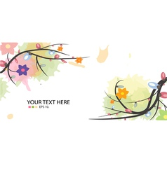 Flower on spring season background vector