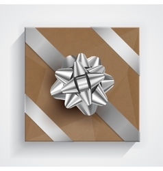 Gift box - christmas and birthday bow vector image