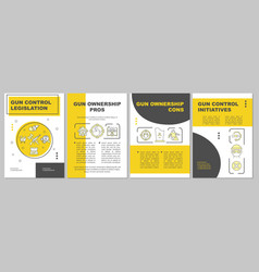 Gun violence prevention brochure template vector