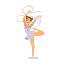 Gymnast girl vector image