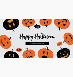 Halloween sale banner website spooky header vector