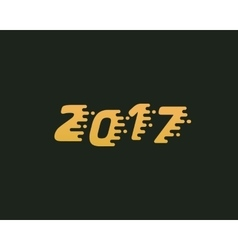 Happy new year 2017 golden text design Dynamic vector
