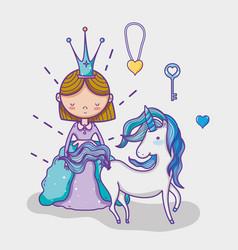 Little princess cute hand drawing cartoon vector
