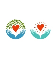 Love ecology environment icon Health medicine vector image
