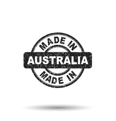 Made in australia stamp on white background vector