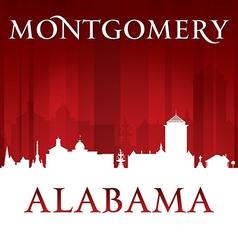 Montgomery Alabama city skyline silhouette vector image