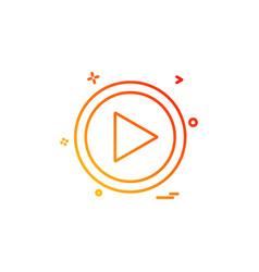 Music player icon design vector