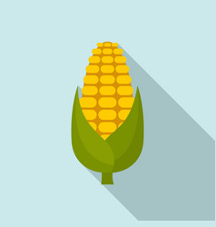 Natural maize icon flat style vector