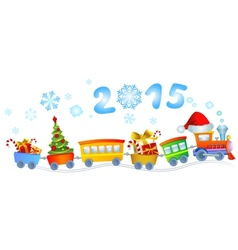 New Years train vector image