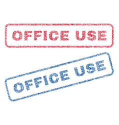 Office use textile stamps vector