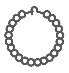 Pearls bracelet line icon jewelry and accessory vector