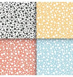 Polka dot seamless patterns set vector image