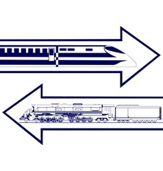 Railway transport vector image