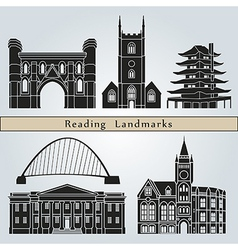 Reading landmarks and monuments vector