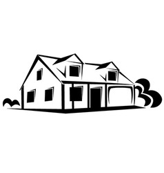 Real estate house sketch vector image