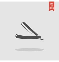 Retro razor icon vector