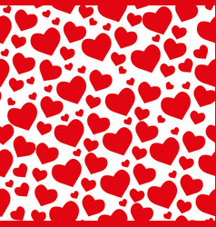 samless pattern from hearts on a white background vector image
