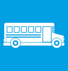 school bus icon white vector image