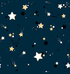 seamless repeating stars background vector image