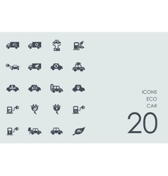 Set of eco car icons vector