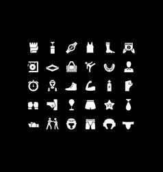 Set simple icons ufc vector