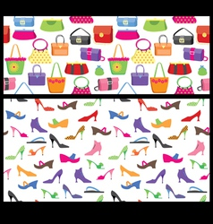 Shoes and purses seamless vector