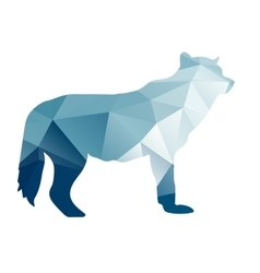 Silhouette of a wolf vector image