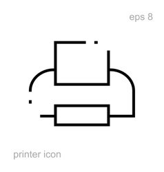 Simple printer icon vector image