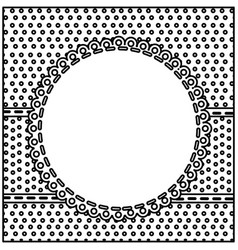 sketch silhouette decorative frame with pattern vector image
