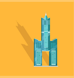 sky tower skyscraper tanteks in taiwan graphic vector image
