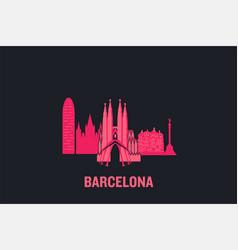 skyline barcelona vector image