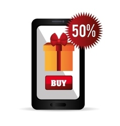 Smartphone cyber monday buy gift discount vector