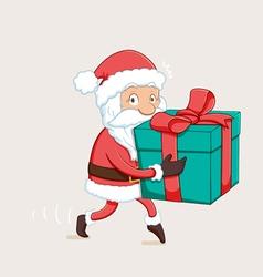 Sneaky Santa Path vector image