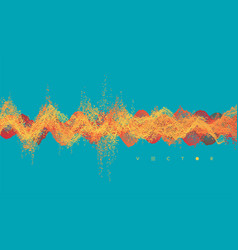 Sound waves dynamic effect with particle 3d grid vector