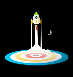 space travel or business startup symbol with vector image