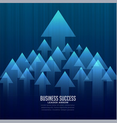Stylish business leader concept background vector