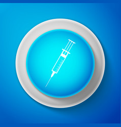 syringe sign for vaccine injection flu shot vector image