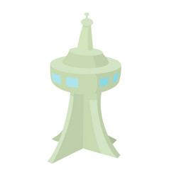 television tower icon cartoon style vector image