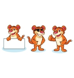 Tiger Mascot happy vector image vector image