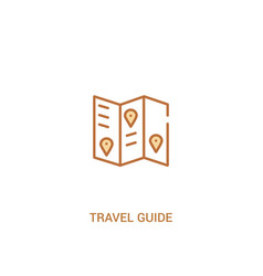 Travel guide concept 2 colored icon simple line vector