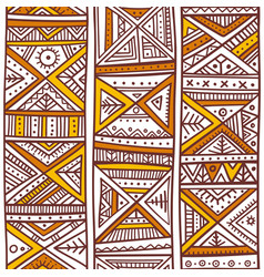 Tribal african seamless pattern in boho style vector