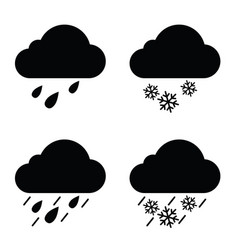 weather icon in black vector image