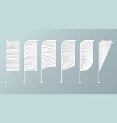 white textile outdoor feather flag advertising vector image
