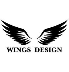 Wings design 6 vector
