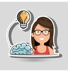 Woman idea speak vector