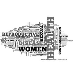 women health reproductive text word cloud concept vector image